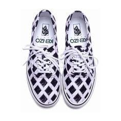 KENZO KENZO X VANS PRINT SNEAKERS - WOMEN - FOOTWEAR - KENZO ($125.00) ❤ liked on Polyvore