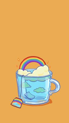 Uyoo — [ Wallpaper of Cup Illustrations Series ] (Phone. phone Uyoo — [ Wallpaper of Cup Illustrations Series ] (Phone. Cartoon Wallpaper, Wallpaper Tumblr Lockscreen, Wallpaper Pc, Kawaii Wallpaper, Pastel Wallpaper, Wallpaper Samsung, Aesthetic Iphone Wallpaper, Galaxy Wallpaper, Aesthetic Wallpapers