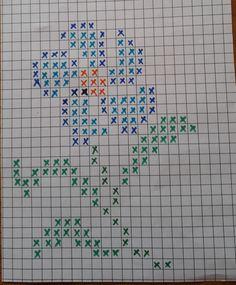 Tiny Cross Stitch, Cross Stitch Flowers, Cross Stitch Designs, Cross Stitch Patterns, Cross Stitching, Cross Stitch Embroidery, Broderie Bargello, Crochet Carpet, Crochet Cross