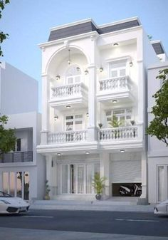 Buildings for apartment Classic House Exterior, Classic House Design, Modern House Design, House Outside Design, House Front Design, Style At Home, Bungalow Haus Design, House Plans Mansion, Village House Design