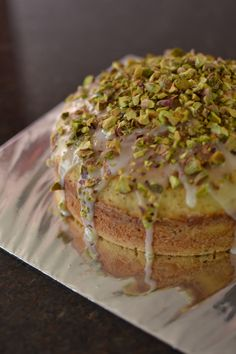 Chai Tea Cake with Salted Pistachio. Trying to bring back memories of a wonderful cake I tried almost 10 years ago. #chai #tea #cake #pistachio