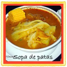 A Quick Guide to Food and Drink in El Salvador Sopa de pata is another food popular in El Salvador. Sopa de pata is a soup made from corn, plantains, tripe and cows feet. Pata Recipe, Mexican Beef Soup, Traditional Food, El Salvador Food, San Salvador, Salvadoran Food, Recetas Salvadorenas, Comida Latina, Chile