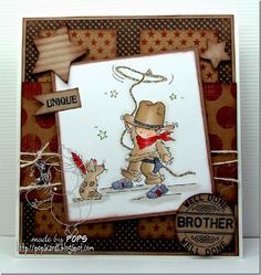 Pop's Cards: Yeehaa Lili of the Valley Boy Cards, Kids Cards, Cute Cards, Men's Cards, Card Making Inspiration, Making Ideas, Boy Birthday, Birthday Cards, Image Fun
