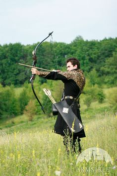 Medieval Archer Quiver Leather Thigh Bowman by armstreet on Etsy