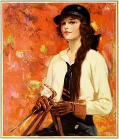 Elegant equestrian fashion from a 1923 Palmolive ad. #vintage #fashion #1920s