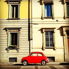 Streets are filled with Fiats Fruit Of The Month, Best Of Italy, Living In Italy, Vw Bus, Instagram, Cherry Red, Cars, Travel, Motors