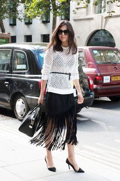 Trending at NYFW - Fringe Hem Skirts: Here are 12 you can BUY right now | StyleCaster