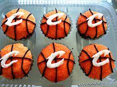 Cavaliers Basketball Cupcakes