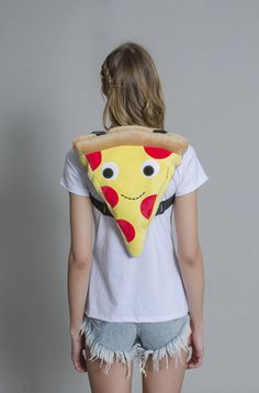 of plush Cheezy Pie pizza goodness to strap on your back. You could even store a few slices in here! - - One side zipper - two adjustable straps Shipping Specifications: Handbags On Sale, Luxury Handbags, Fashion Handbags, Purses And Handbags, Fashion Bags, Versace Handbags, Unique Purses, Cute Purses, Cute Backpacks