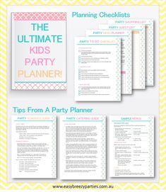 Download your FREE Ultimate Kids Party Planner! Includes To Do and Shopping…