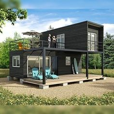 Metal container house plans and shipping container homes house plans. Modern Tiny House, Tiny House Cabin, Small House Design, Tiny House Plans, Modern House Design, Tiny House Living, Shipping Container Home Designs, Shipping Containers, Shipping Container Cabin
