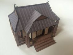 Traditional Japanese House Free Building Paper Model Download - http://www.papercraftsquare.com/traditional-japanese-house-free-building-paper-model-download-2.html#172, #BuildingPaperModel, #House