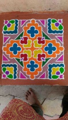 Rangoli Designs Simple Diwali, Indian Rangoli Designs, Rangoli Border Designs, Diwali Rangoli, Rangoli Designs With Dots, Rangoli With Dots, Beautiful Rangoli Designs, Rangoli Borders, Rangoli Patterns