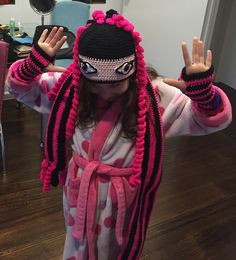 Draculaura Crochet hat - MH