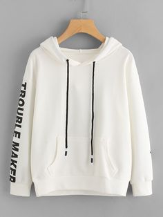 Shop Letter Print Kangaroo Pocket Hoodie online. SheIn offers Letter Print Kangaroo Pocket Hoodie & more to fit your fashionable needs.