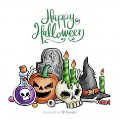 Halloween elements Vectors, Photos and PSD files Halloween Templates, Halloween Labels, Halloween Cartoons, Halloween Banner, Halloween Items, Halloween Patterns, Halloween Signs, Cute Halloween, Halloween Cards