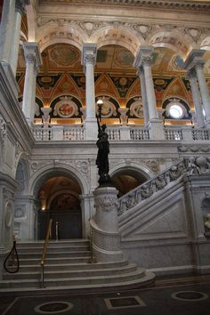 LIbrary Of Congress - Washington, DC  I LOVED the Library of Congress when I visited DC. It is one of the most gorgeous, intricately decorated and designed buildings I have ever been inside. (Not to mention, they've got all those books!)