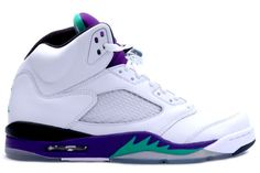 Air Jordan 5 Grapes - White / Emerald
