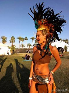 "Oh I gotta have one of these!! Customizable Feather Mohawk / Headdress - ""The Warrior"". $299.99, via Etsy."