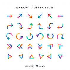 Modern arrow collection with flat design Free Vector