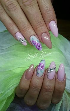 Flower and rose nail art