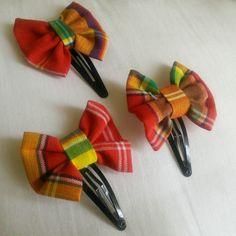 Barrette noeud papillon madras de la boutique MuMMee33 sur Etsy