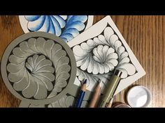 Feathering Spiral Tangle Pattern Lesson #258 - YouTube