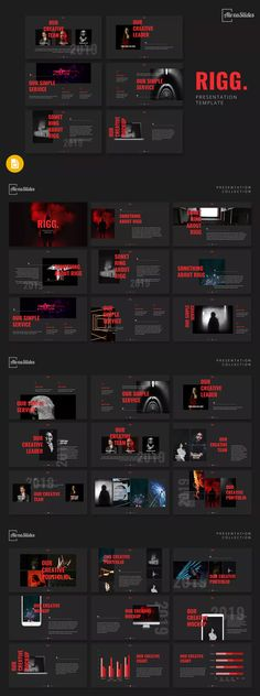 Rigg - Keynote Presentation Template by alexacrib on Envato Elements Powerpoint Images, Powerpoint Design Templates, Powerpoint Themes, Presentation Design Template, Presentation Layout, Presentation Slides, Presentation Magazine, Keynote Design, Slide Design