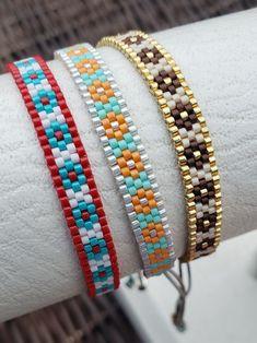 Textile Jewelry, Bead Jewellery, Diy Jewelry, Beaded Jewelry, Beaded Choker, Beaded Rings, Beaded Bracelets, Peyote Beading Patterns, Loom Beading