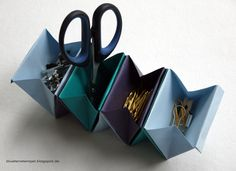 Origami Accordion Box - mit link zur Anleitung - von: Blütenstempel: Designthema im Juni