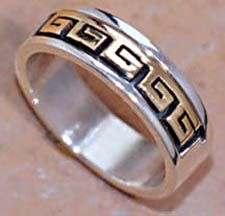 Hopi Wedding Symbol 14k Gold And Sterling Silver Ring Rings With Meaning