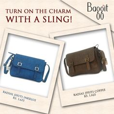 Turn your #World around with a #Stylish #Sling! Avail these beauties at : www.baggit.com