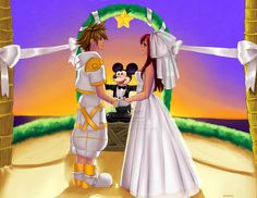 Sora and Kairi wedding!!!!!!!!!!! yes!!!!!!!!! THIS IS HOW THEY WILL FINISH KINGDOM HEARTS!!!!!!!!!!!!!!!!!!!! <<< WHAT?! BUT- BUT I DONT WANT IT TO END!!!!<KINGDOM HEARTS SHALL NEVER END!