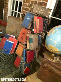 Old Books at Rusted Roots Junk Show #RustedRoots