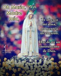 Oremos!  Oh santísima Virgen María Reina del Rosario y Madre de misericordia que te dignaste manifestar en Fátima la ternura de vuestro Inmaculado Corazón trayéndonos mensajes de salvación y de paz. Confiados en vuestra misericordia maternal y agradecidos a las bondades de vuestro amantísimo Corazón venimos a vuestras plantas para rendiros el tributo de nuestra veneración y amor. Concédenos las gracias que necesitamos para cumplir fielmente vuestro mensaje de amor y la que os pedimos en esta…