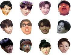 Buy 'Jungkook Set' by as a Sticker, Transparent Sticker, or Glossy Sticker Exo Stickers, Printable Stickers, Diy T Shirt Printing, Bts Book, K Pop, Bts Playlist, Diy Gifts For Friends, Bts Merch, Journal Stickers
