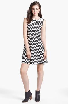 Love this chevron skater dress!