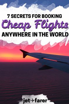 7 Ways to Find Ridiculously Cheap Flight Deals : Ever wondered how to find great deals on flights, domestically or abroad? Click through for our 7 secrets on how to score cheap flights to anywhere in the world! Cheap Flights To Europe, Book Cheap Flights, Find Cheap Flights, Budget Flights, Cheapest Flights, Cheap Travel, Budget Travel, Travel Tips, Travel Destinations