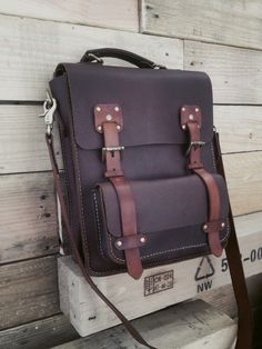 Coolest leather messenger bag/briefcase