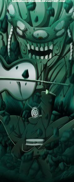 Naruto Tobi and Gedo Mazo 2 by LiderAlianzaShinobi on DeviantArt Wallpaper Naruto Shippuden, Naruto Shippuden Anime, Madara Uchiha, Naruto Wallpaper, Naruto Art, Anime Naruto, Boruto, Naruto Eyes, Naruto Pictures