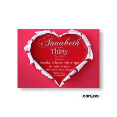 Valentines, Birthday invitations and Glitter on Pinterest
