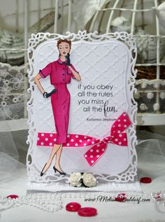 Pink Persimmon - Sassy Girl, $15.00 (http://www.pinkpersimmon.com/sassy-girl/).  Card designed by Melisa Waldorf