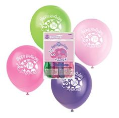 """First Birthday Ladybug Party Balloons pack of 8 /12"""" Helium Quality"""