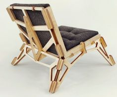 Gustav Duesing's Skeletal Chair 23D Packs Flat to Ship and Sets Up in a Snap | Inhabitat - Sustainable Design Innovation, Eco Architecture, Green Building