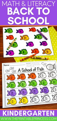 Gear up for the Fall with your new students with this math and literacy activity pack that is perfect for brand new Kindergarteners! Inside you'll find a collection of no-prep activities, fun centers, and partner games to build kindergarten ready skills such as letter recognition, name activities, beginning sounds, counting, number recognition and number writing, subitizing, ten frames, shapes, and more! Kindergarten Centers, Math Literacy, Kindergarten Classroom, Kindergarten Activities, Alphabet Line, Subitizing, Word Sorts, Letter Activities, Number Recognition