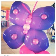Resultado de imagen para pink and purple balloon decorations