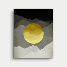 Mid Century Modern toile Art jaune et gris Wall Art par evesand Modern Canvas Art, Modern Wall Art, Canvas Art Prints, Art Jaune, Cool Wall Art, Mid Century Modern Art, Art Moderne, Grafik Design, Abstract Wall Art