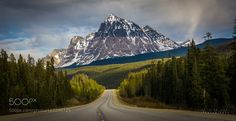 Mount Fitzwilliam BC Canada. View from Highway 16 from Mount Robson Provincial Park to Jasper. by adshk2