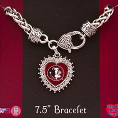 J and D Jewelry and More - 7.5 inch Florida State Lobster Clasp Bracelet, $11.99