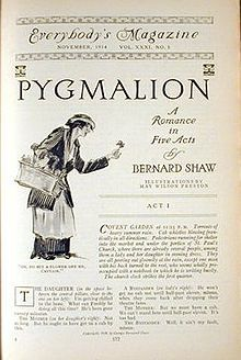 Pygmalion by George Bernard Shaw. Link to the play at: - http://www.gutenberg.org/files/3825/3825-h/3825-h.htm